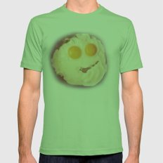 smiley egg Mens Fitted Tee Grass SMALL
