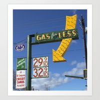 Gas For Less Art Print
