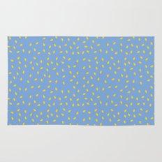 Yellow Pit on Blue /// www.pencilmeinstationery.com Rug