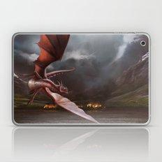 Smaug Burns Lake-Town Laptop & iPad Skin