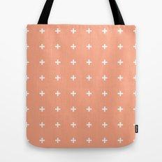 Peach Cross // Peach Plus Tote Bag