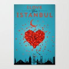 I Love You Istanbul Canvas Print