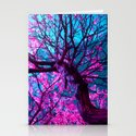 purple tree XII Stationery Cards