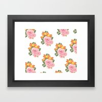 Summer Floral Print Framed Art Print