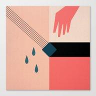 Minimalist Weeping Gentl… Canvas Print