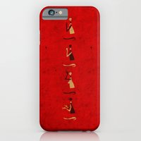 iPhone & iPod Case featuring Forms of Prayer - Red by Damien Koh