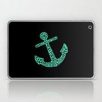 Mint Leopard Anchor Laptop & iPad Skin