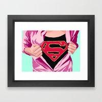 Girl, You're Super Framed Art Print