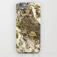iPhone & iPod Case featuring Great Horned Owl by Teagan White