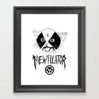 Mewtilator Framed Art Print