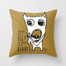 Heartley - mustard Throw Pillow