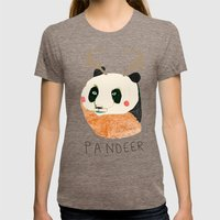 PANDEER :D Womens Fitted Tee Tri-Coffee SMALL