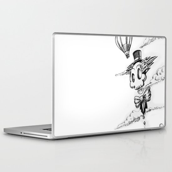 Flying Skull Laptop & iPad Skin