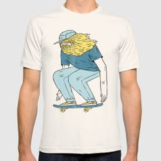 Skate Beard Mens Fitted Tee Natural SMALL