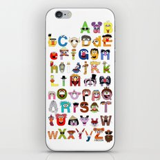 Sesame Street Alphabet iPhone & iPod Skin