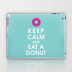 Keep Calm and Eat a Donut Laptop & iPad Skin