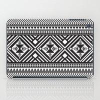Monochrome Aztec inspired geometric pattern iPad Case