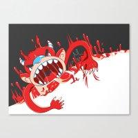 Monster!! Eats You Whole… Canvas Print