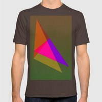 Try Angulate Mens Fitted Tee Brown SMALL
