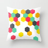 Crazy Clusters Throw Pillow