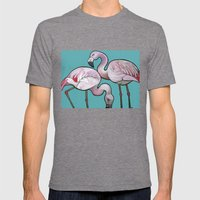 Flamingos Mens Fitted Tee Tri-Grey SMALL