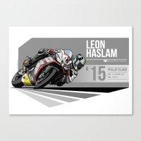 Leon Haslam - 2015 Phill… Canvas Print