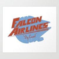 Falcon Airlines Art Print