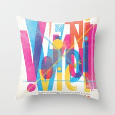 Veni, Vidi, Vici. Vomui. Throw Pillow