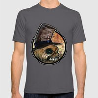 Skull in a Top Hat Mens Fitted Tee Asphalt SMALL