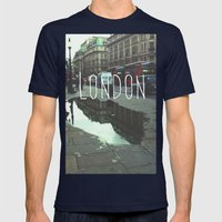 London Mens Fitted Tee Navy SMALL