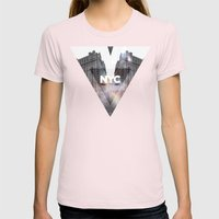 NYC - I Love New York 5 Womens Fitted Tee Light Pink SMALL