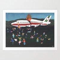 Airplane Crash Art Print