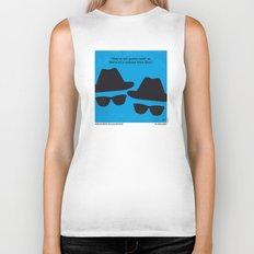 No012 My Blues brothers minimal movie poster Biker Tank