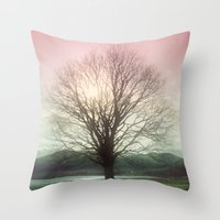 Village Green Tree Throw Pillow