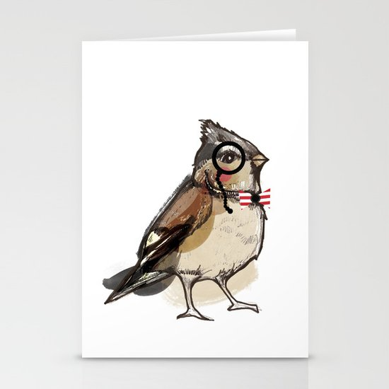 Mister bird for Sorted Exhibition Stationery Card