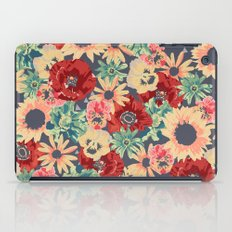 SEPIA FLOWERS -poppies, pansies & sunflowers- iPad Case