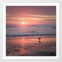 Sunset at Cannon Beach Oregon Art Print