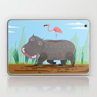 The Hippo and The Flamingo Laptop & iPad Skin