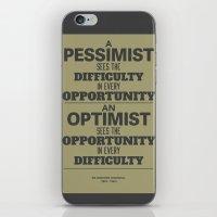 Pessimist / Optimist iPhone & iPod Skin