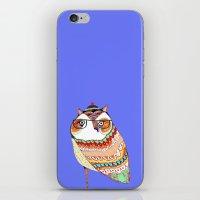Owl, Owl Art, Owl Illust… iPhone & iPod Skin