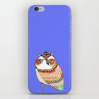 Owl, Owl Art, Owl Illust… iPhone & iPod Skin