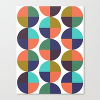 mod circles pattern Canvas Print