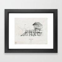 Tigre Delta: Lefted Framed Art Print