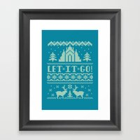 Let It Go Sweater Framed Art Print