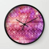 Tribal Fire. Wall Clock