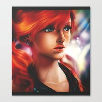 Canvas Print featuring Vanille painting by Peach Momoko