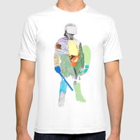 Defender Mens Fitted Tee White SMALL