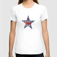 Rhapsody In Triangles Womens Fitted Tee White SMALL