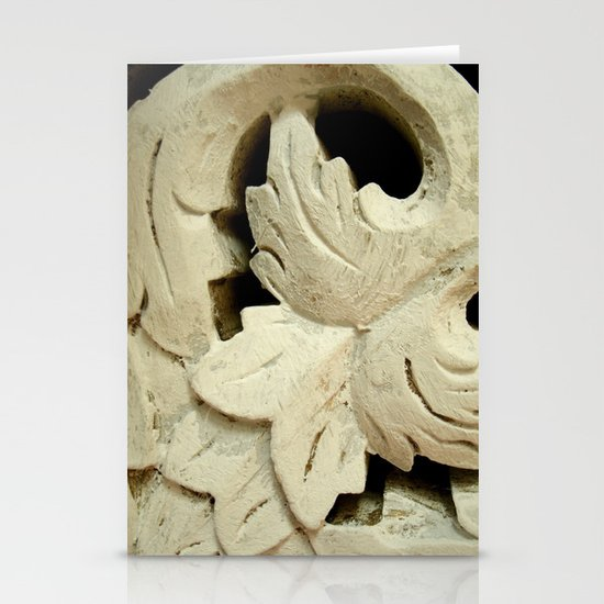 Carved wood II Stationery Card