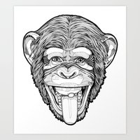the Monkey Art Print